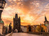 Рассвет на Карловом мосту, Прага