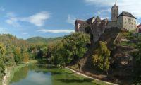 Замок в городе Локет, Чехия