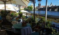 Вид с террасы ресторана «Чертовка» в Праге