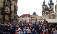 Часы в Праге га Староместской площади