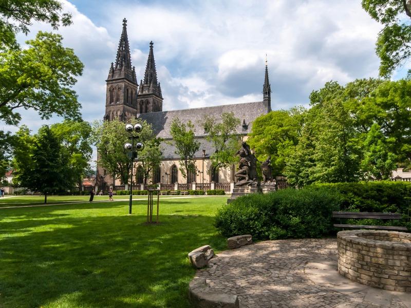 Вышеградский парк в Праге