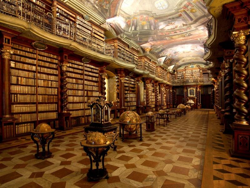 Клементинум в Праге, библиотека