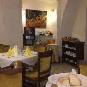 Ресторан отеля Чертовка в Праге, завтрак