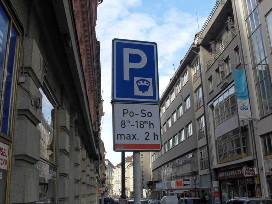 Платные парковки в Праге - Оранжевая зона