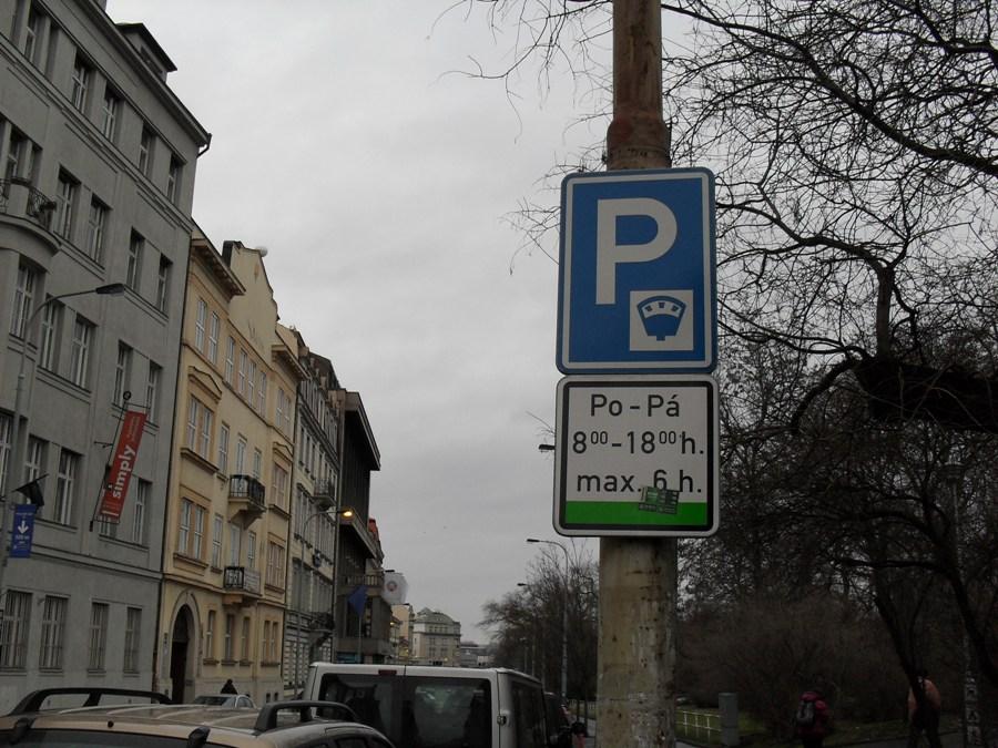 Платные парковки в Праге - Зеленая зона