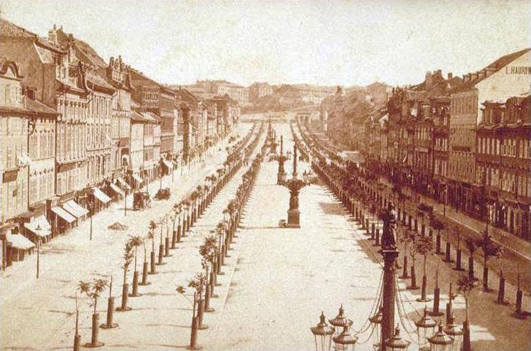 Вацлавская площадь, Прага, 1884 год