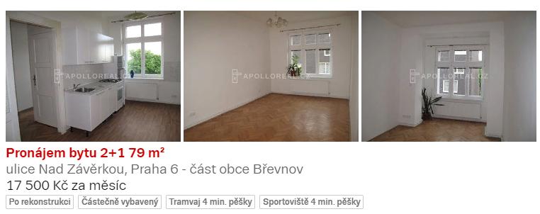 Пример объявления об аренде квартиры с отдельной кухней