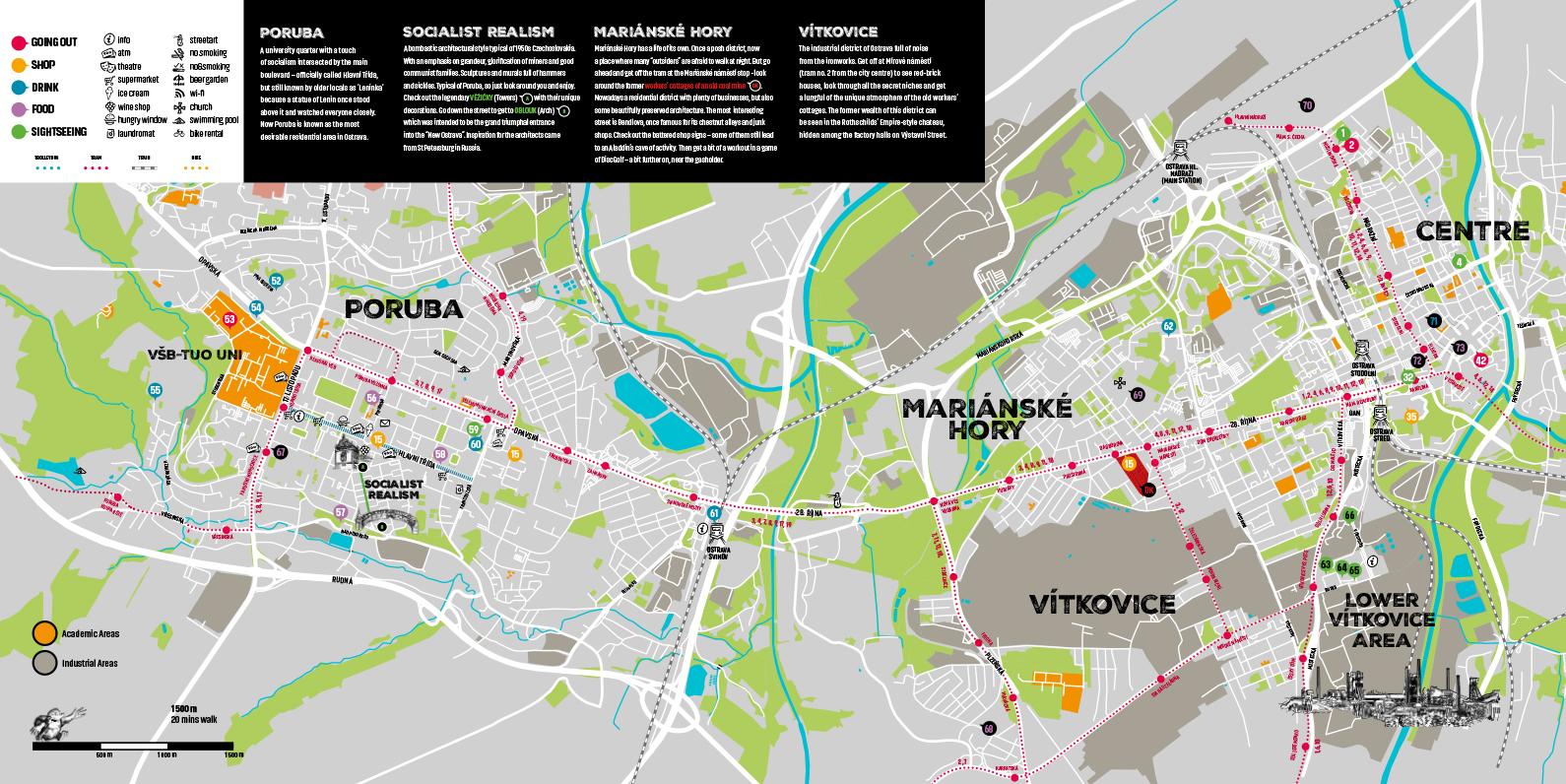 Карта Остравы, Чехия