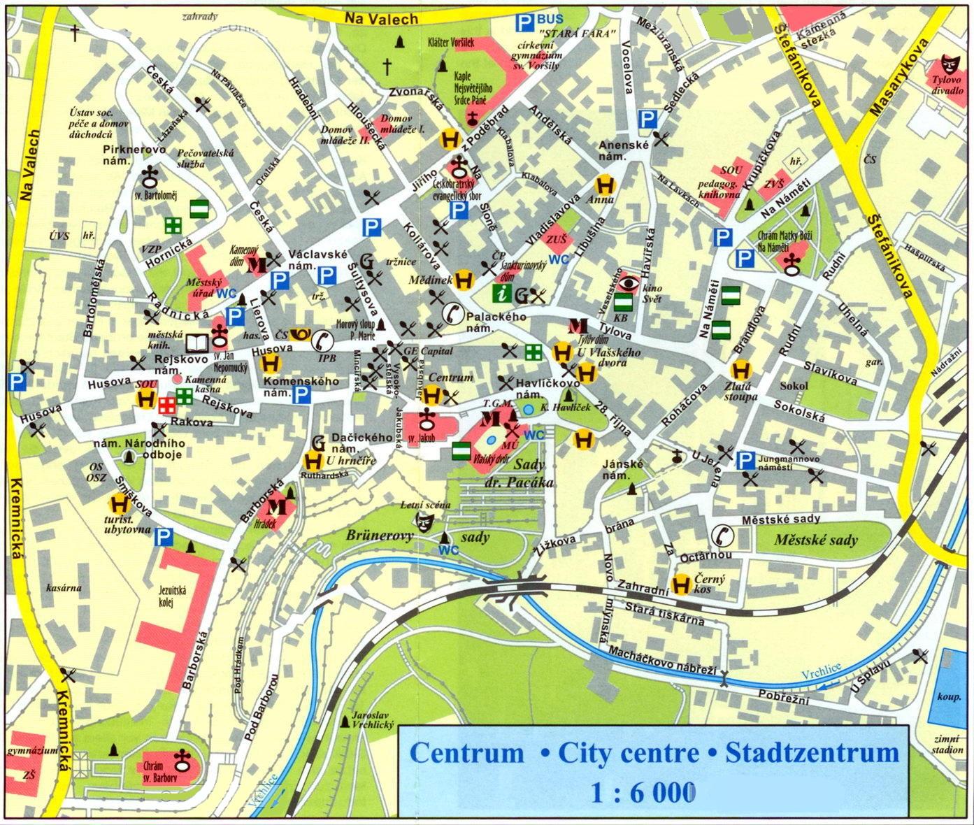 Карта центра Карловых Вар
