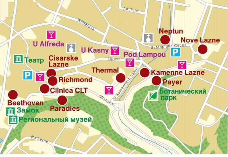 Карта Теплице в Чехии