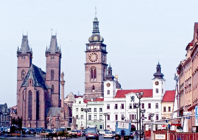 Город Градец Карлове в Чехии
