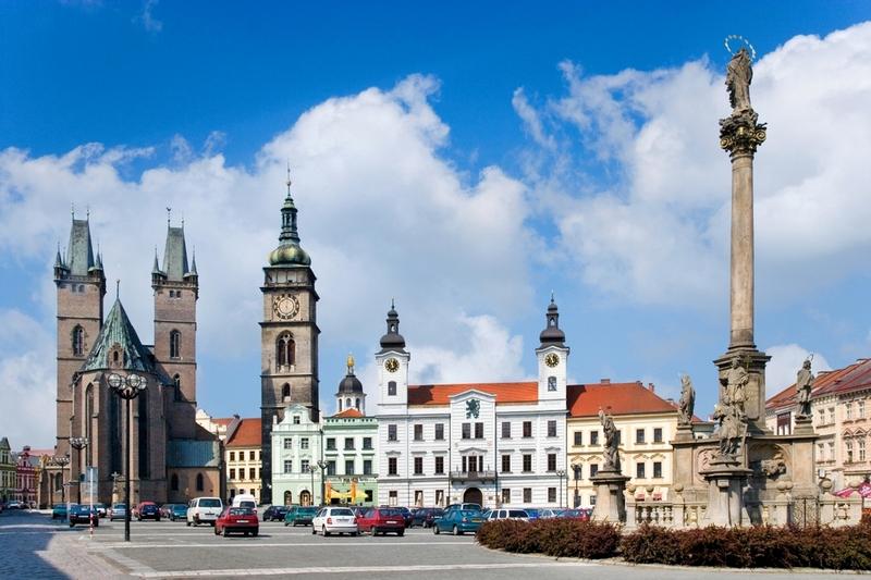 Чумной столб в Градец Карлове, Чехия