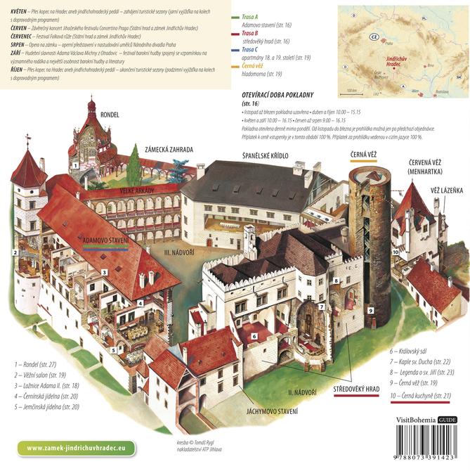 Карта замка в Йиндржихув-Градец