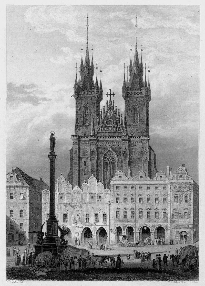 Марианская колонна на Староместской площади, 1841 год