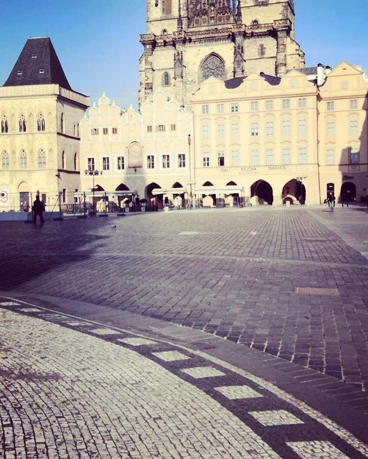 Коронавирус в Чехии, Прага, Староместская площадь